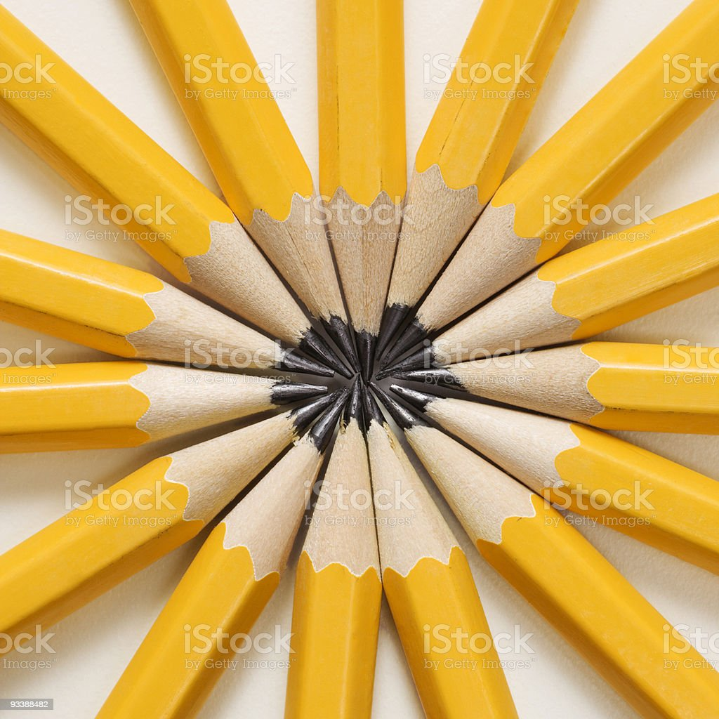 Pencils in star shape. stock photo
