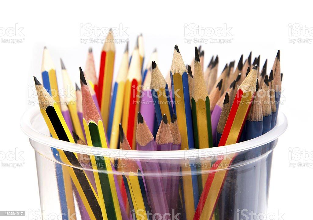 Pencils isolated on white background stock photo
