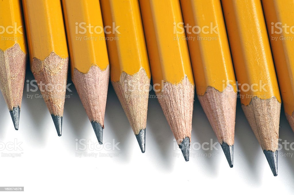 Pencils isolated on white royalty-free stock photo