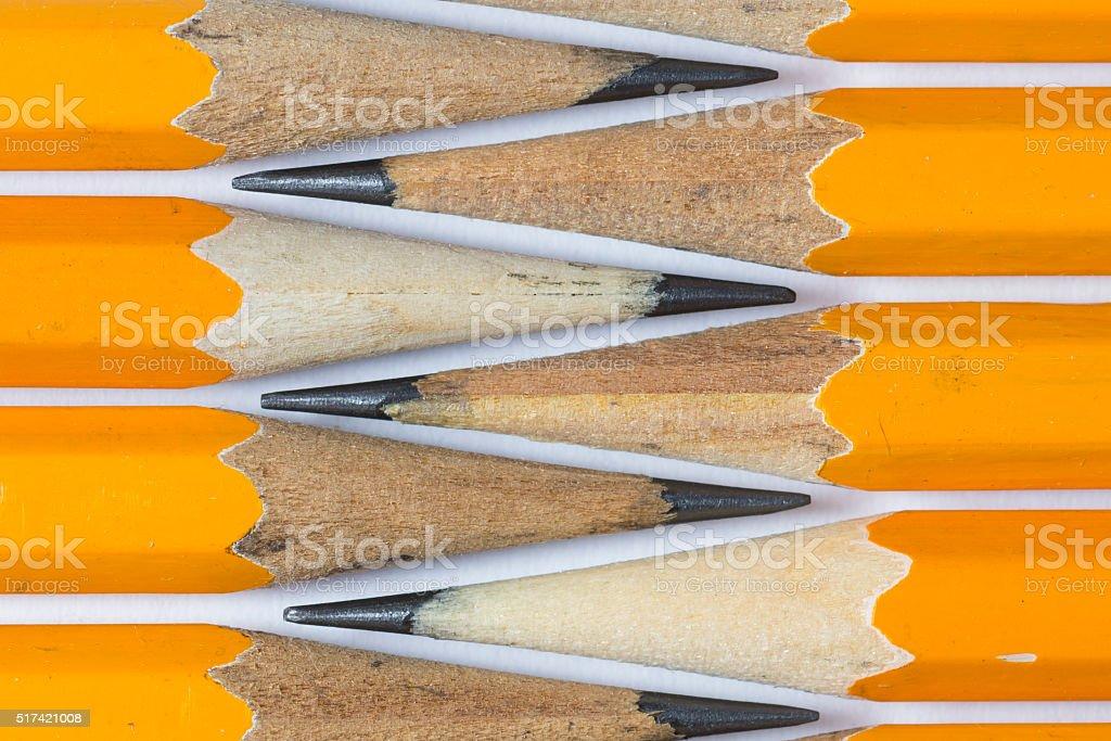 pencils Isolated on white. stock photo