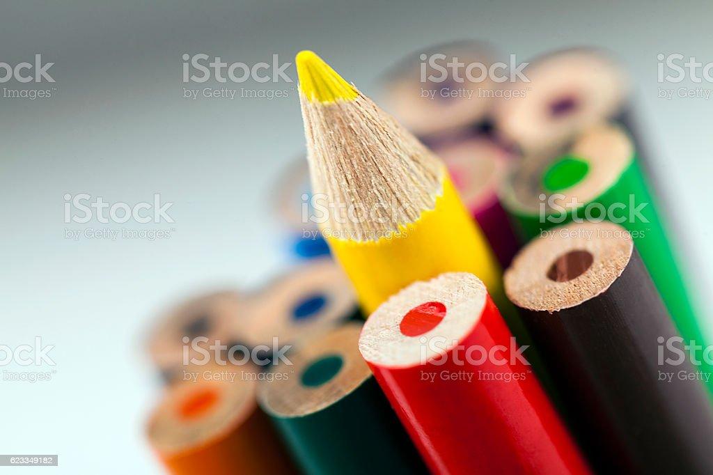 Pencils on gray stock photo