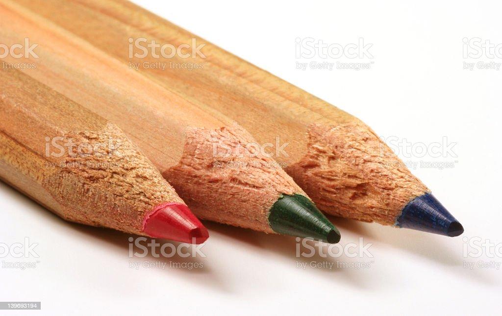 Pencils - RGB royalty-free stock photo