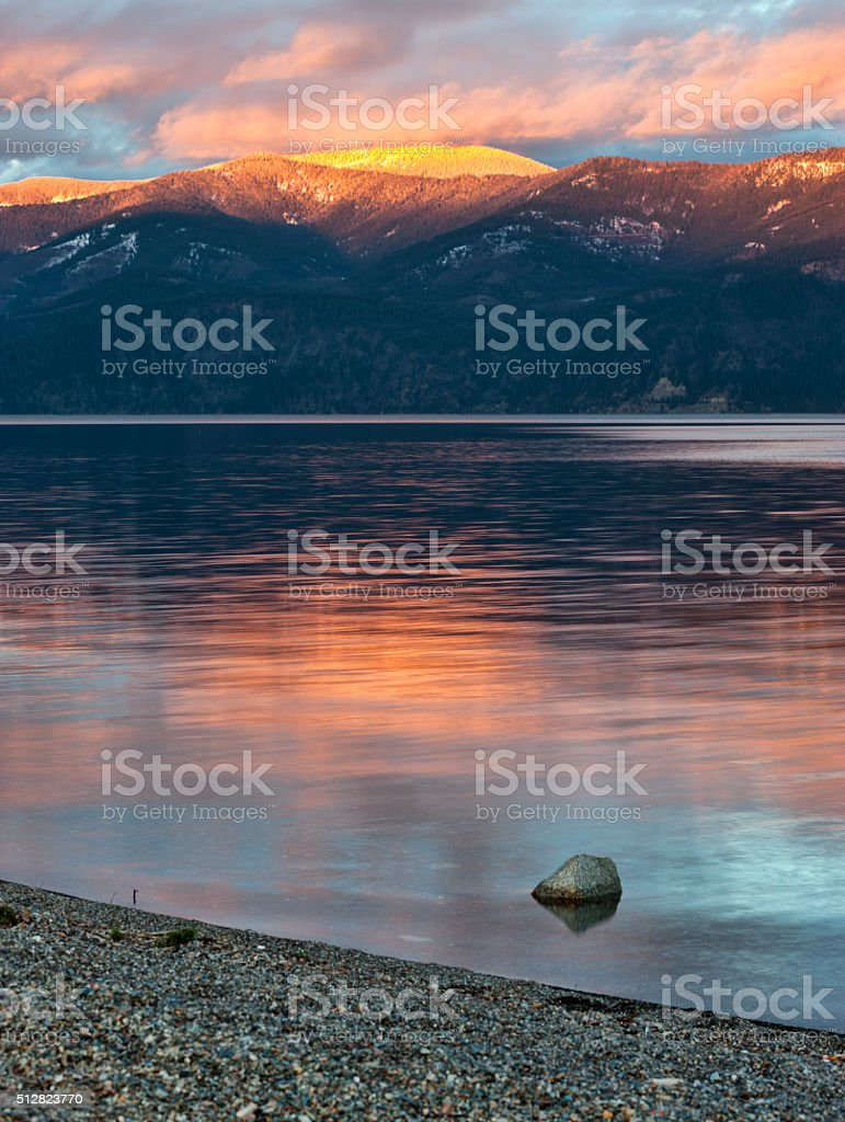 Pend Oreille Lake in north Idaho. stock photo