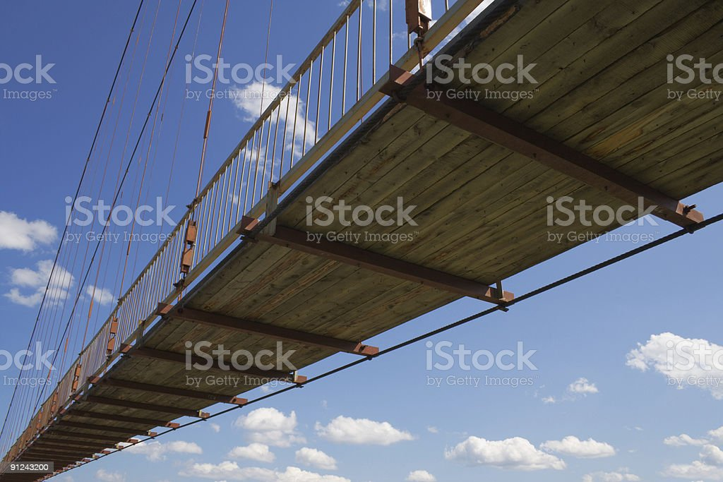 pendant footbridge royalty-free stock photo