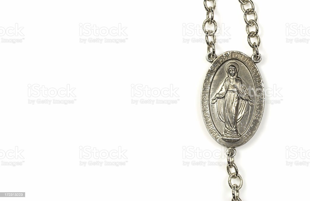 Pendant of The Virgin Mary royalty-free stock photo