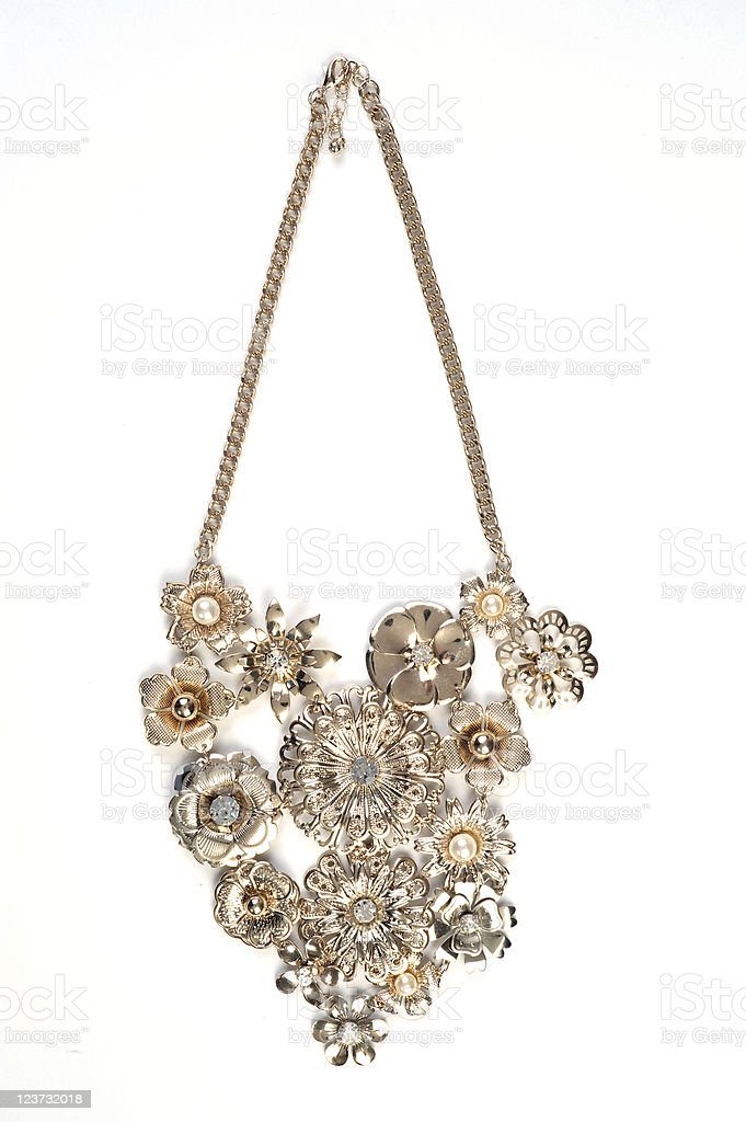 Pendant on golden chain isolated royalty-free stock photo