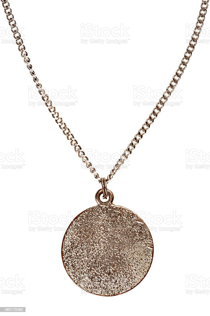 Pendant on silver chain stock photo
