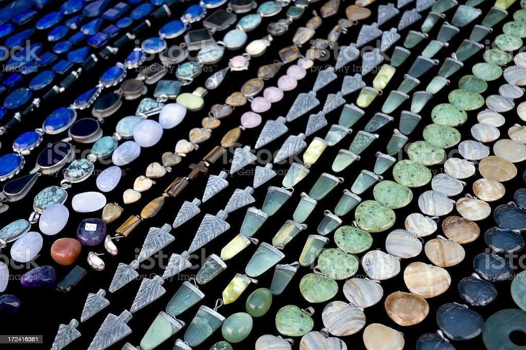 Pendants and beads stock photo