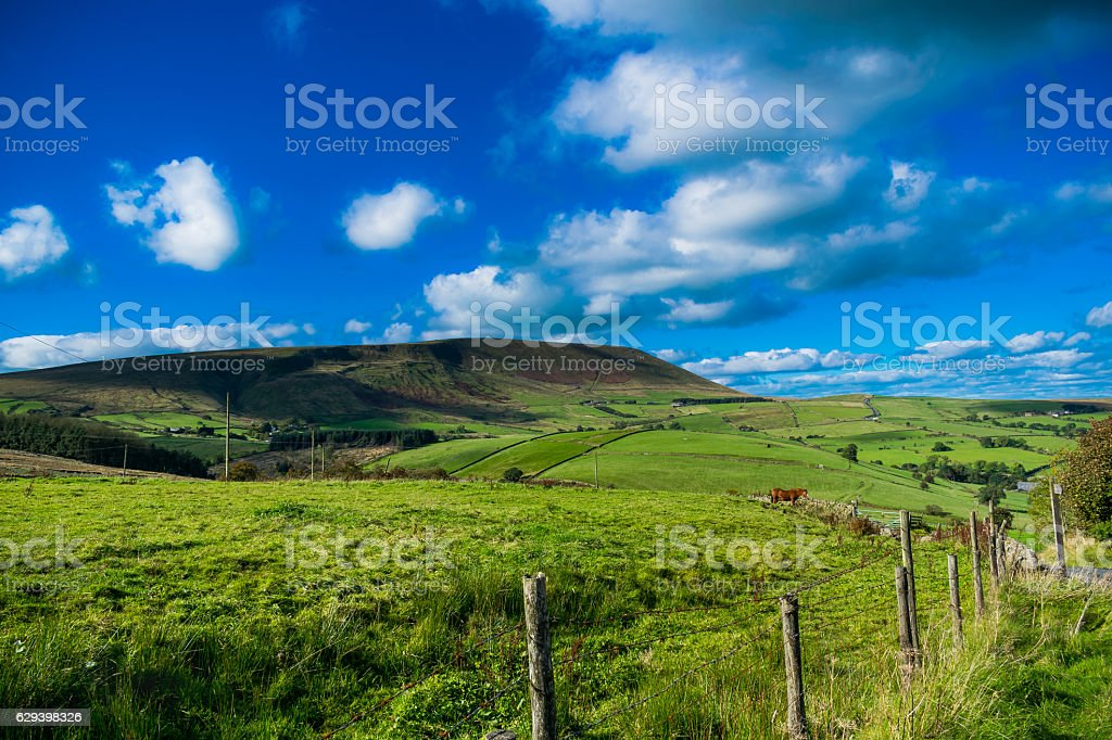 Pendle Hill On Summer stock photo