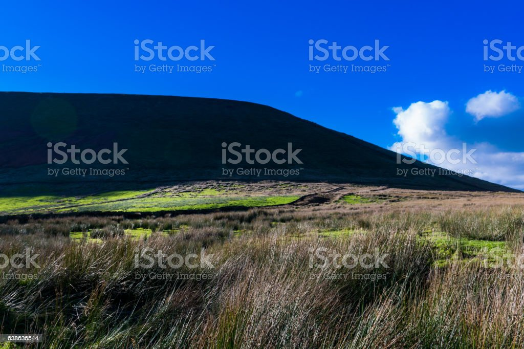 Pendle Hill On Sunny Day stock photo