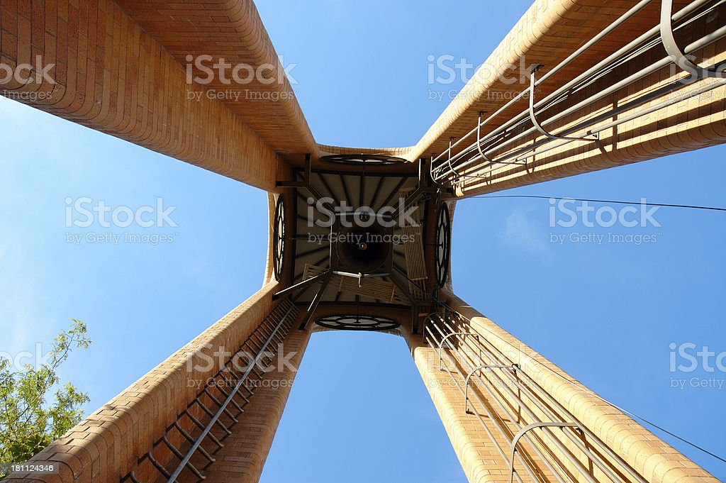 Pendleton clock tower stock photo