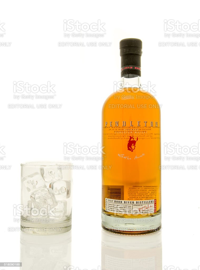 Pendleton Whisky stock photo