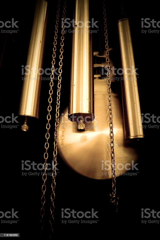Pendulum clock. royalty-free stock photo
