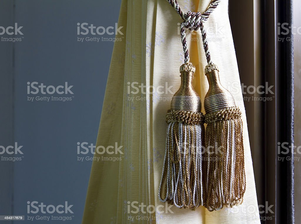 Pendulum yellow curtains royalty-free stock photo