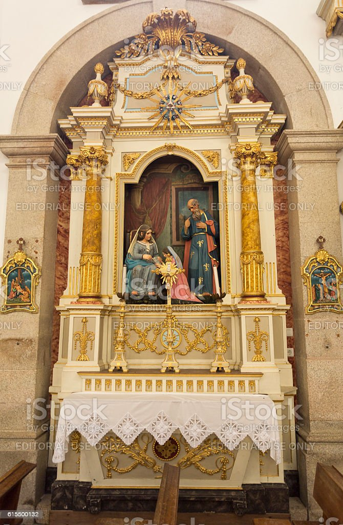 Peneda Sanctuary of Our Lady stock photo