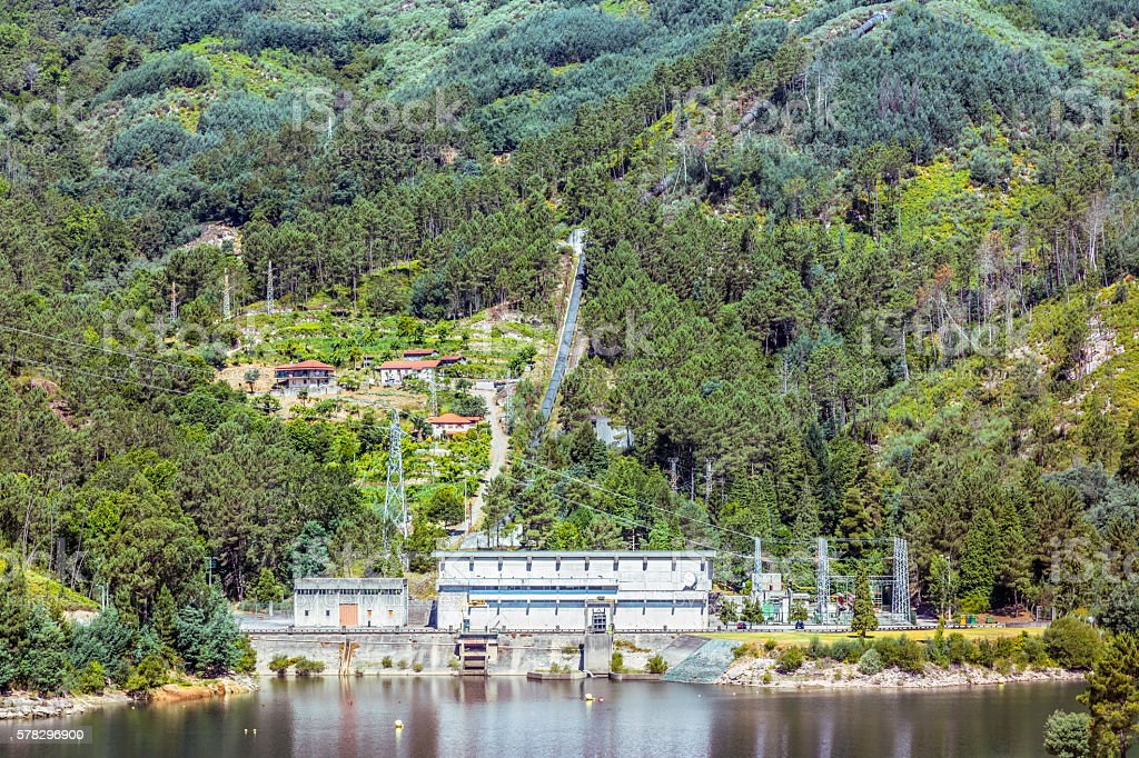 Penedo-Geres National Park Hydroelectric power station stock photo