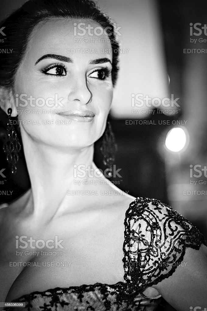 Penelope Cruz in wax stock photo