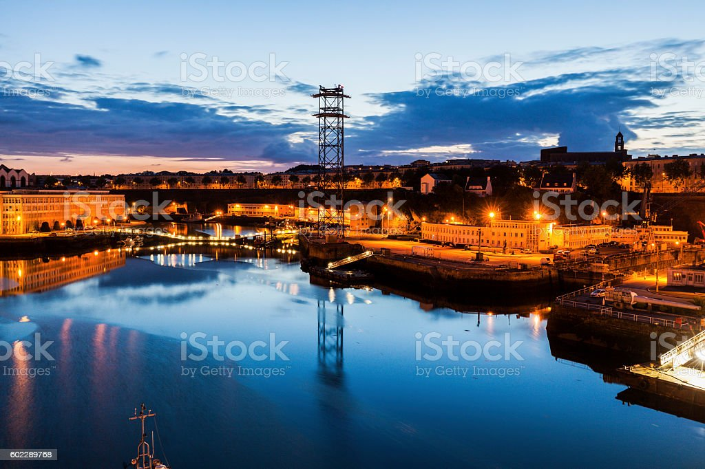 Penfeld River in Brest stock photo