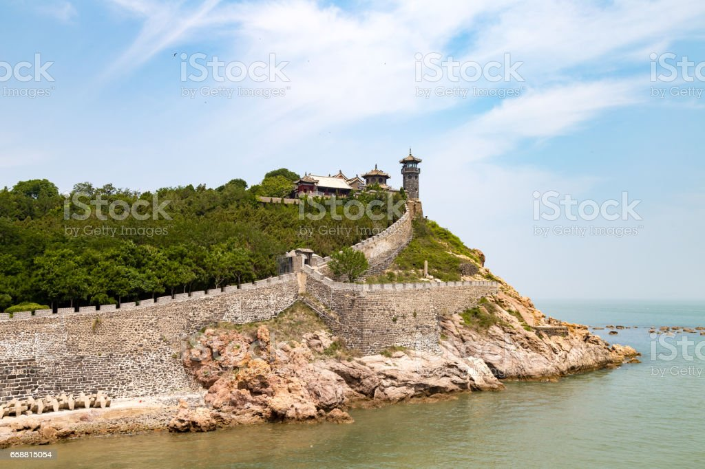 Penglai Pavillon near Yantai, China stock photo