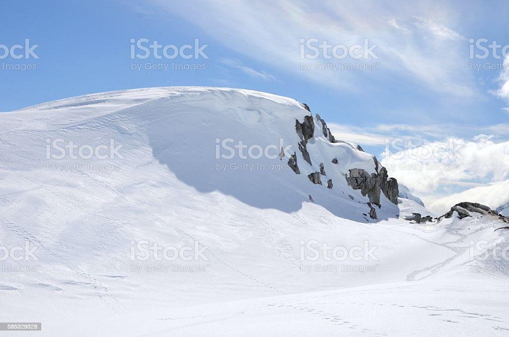 Penguin Tracks and Terrain stock photo