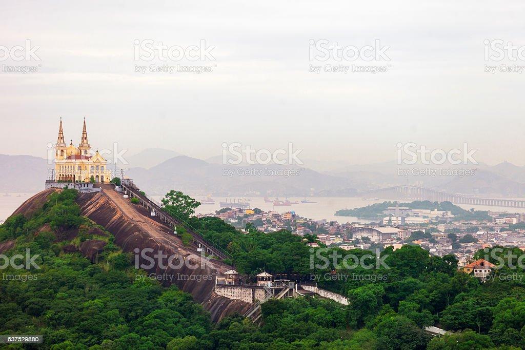 Penha Church in Rio de Janeiro stock photo