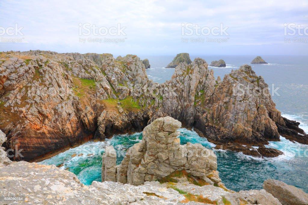 Pen-Hir cape landscape stock photo