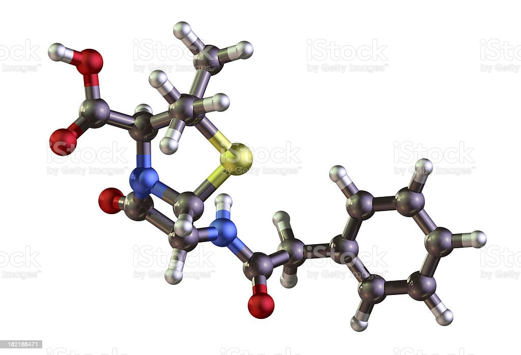 Penicillin Model royalty-free stock photo