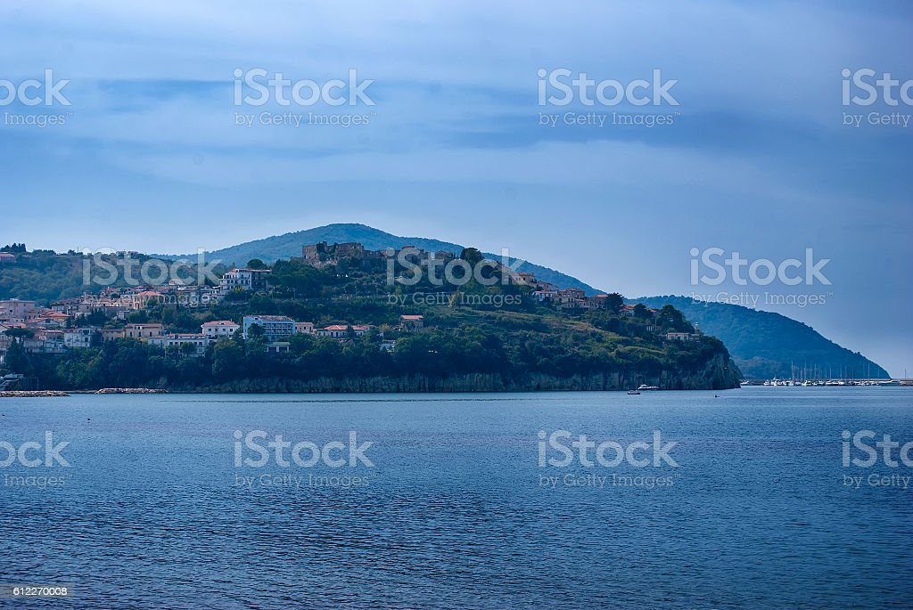 Peninsula Agropoli village, Italy stock photo