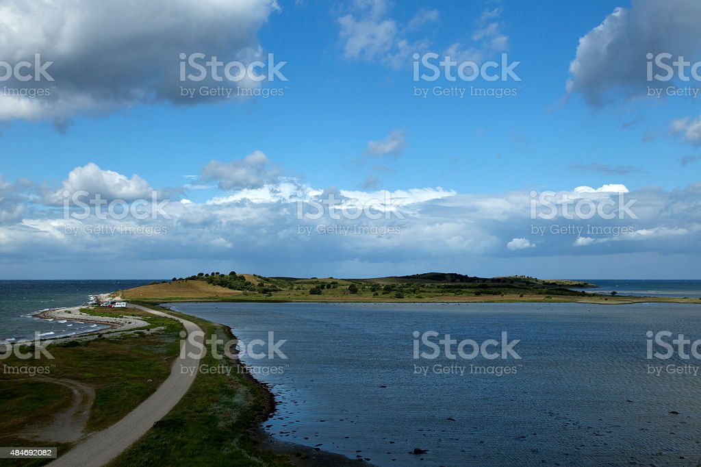 Peninsula Fyns Hoved stock photo
