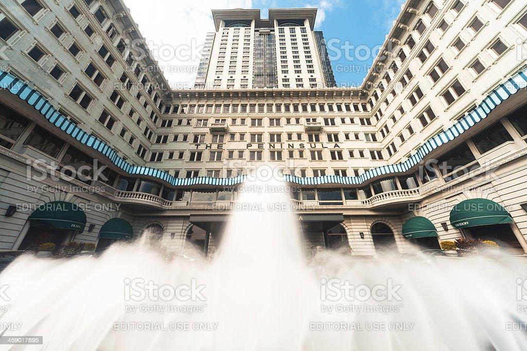 Peninsula Hongkong royalty-free stock photo