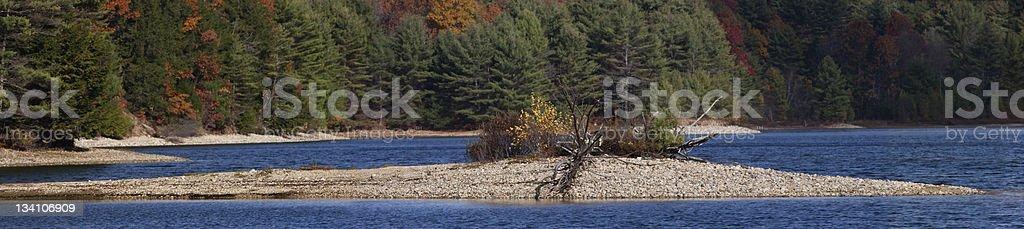 Peninsula Panorama in Fall stock photo