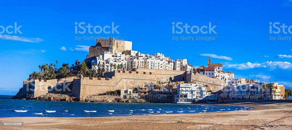 Peniscola town, Spain stock photo