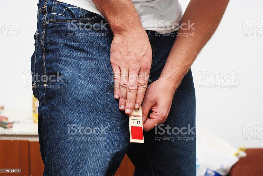 Penislänge messen - Penisvergrößerung seriös royalty-free stock photo