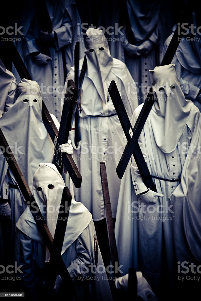 penitente people stock photo