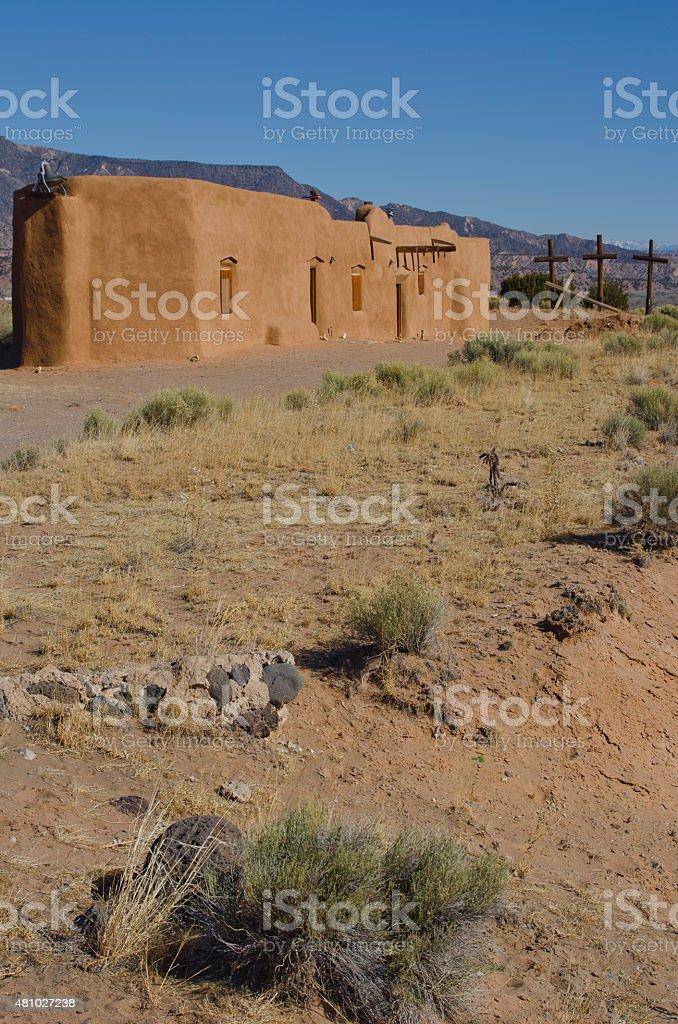 Penitente Morada in Abiquiu, New Mexico stock photo