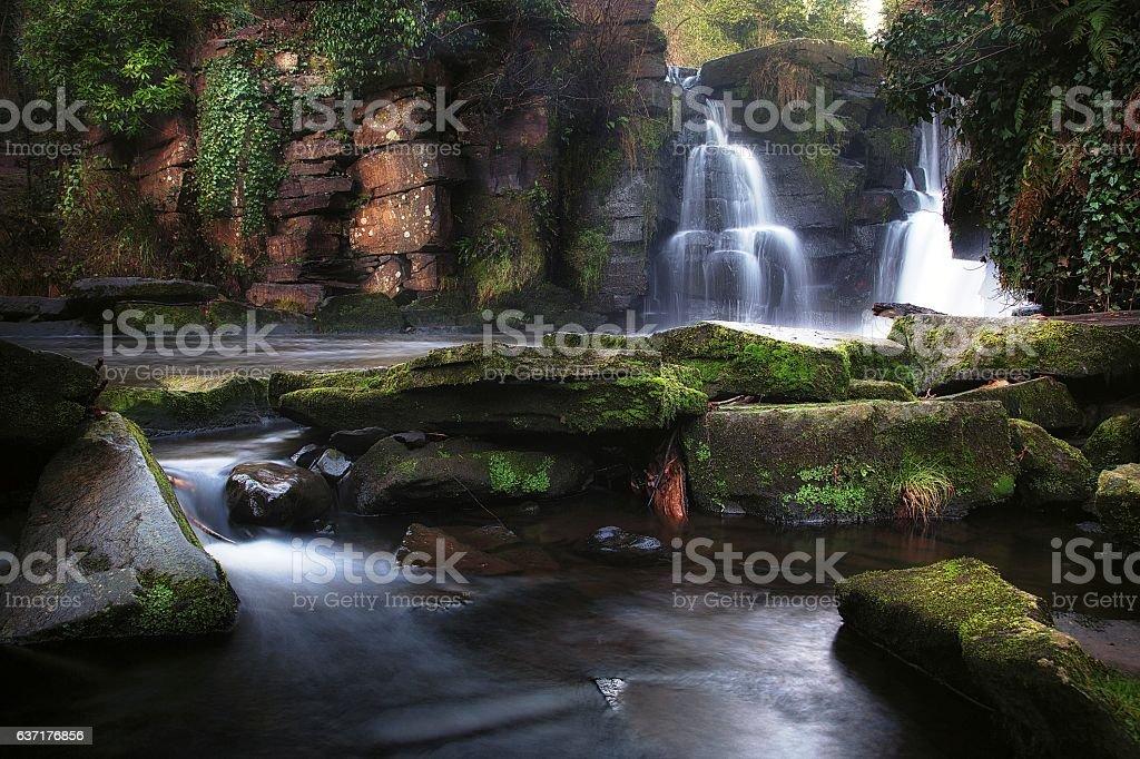 Penllergare Waterfalls stock photo