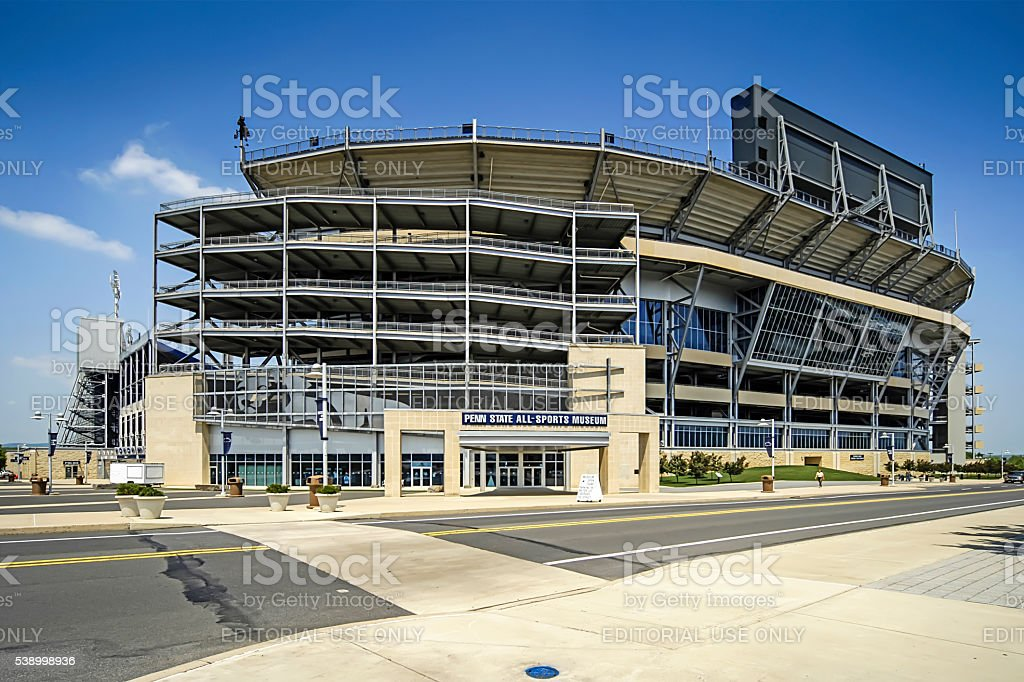 Penn State University Football Stadium at State College PA stock photo