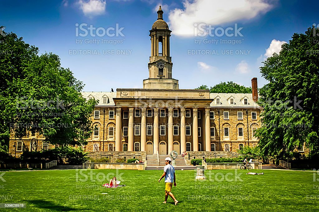 Penn State University Main faculty Buidling at State College PA stock photo