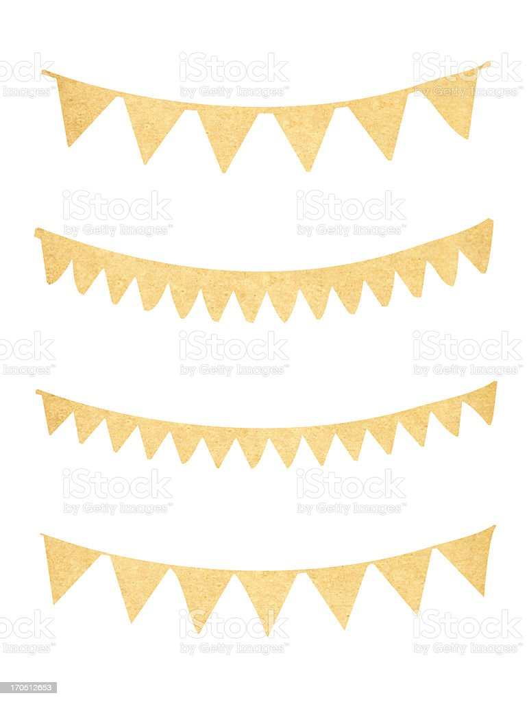 Pennant and bunting collection from old paper stock photo