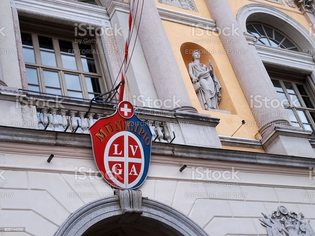 pennant of the city stock photo