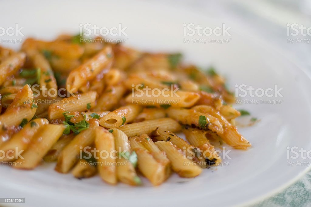 Penne all'arrabbiata 01 royalty-free stock photo