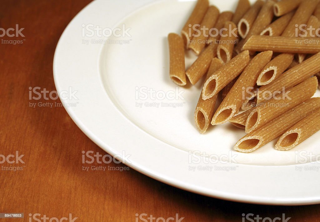 Penne on a Plate royalty-free stock photo