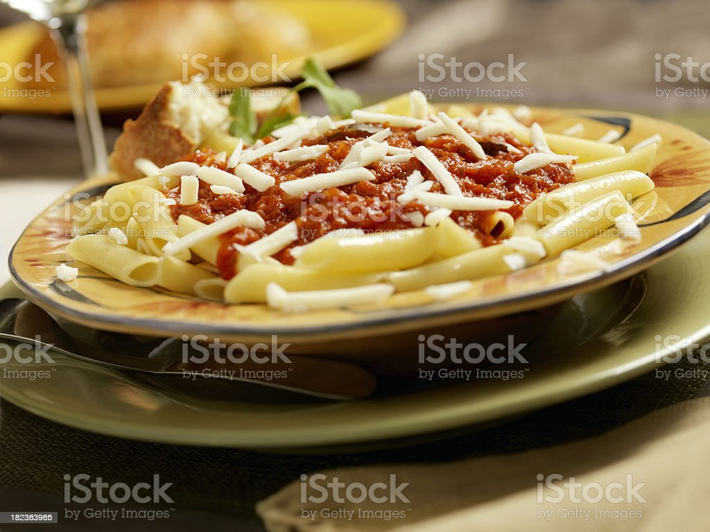 Penne Pasta in Tomato Sauce royalty-free stock photo