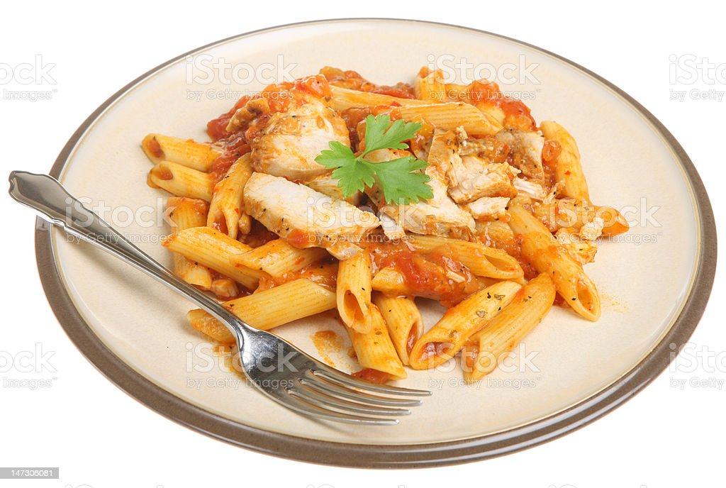 Penne Pasta with Chicken royalty-free stock photo