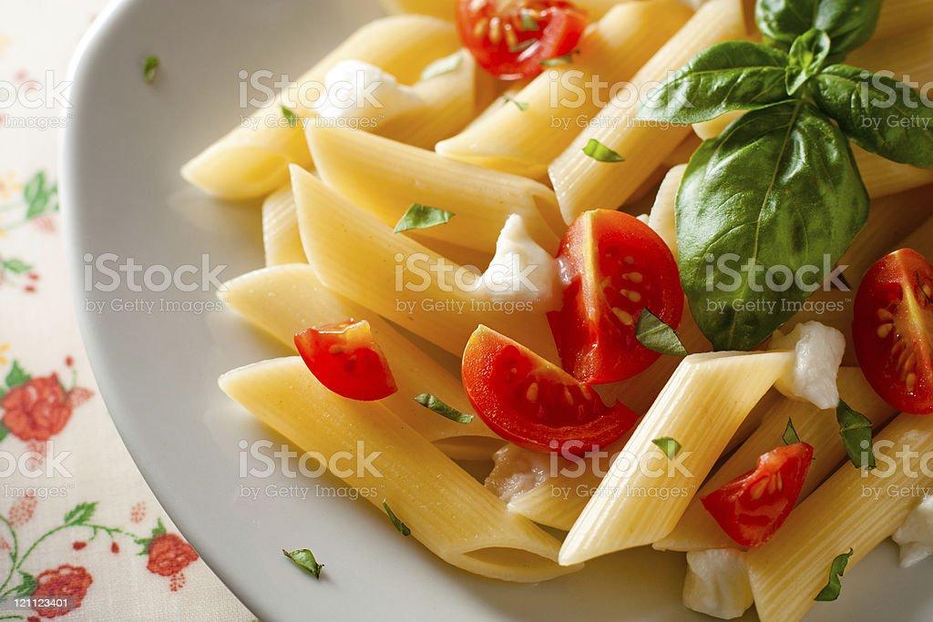 Penne Tricolore, Italian Pasta stock photo