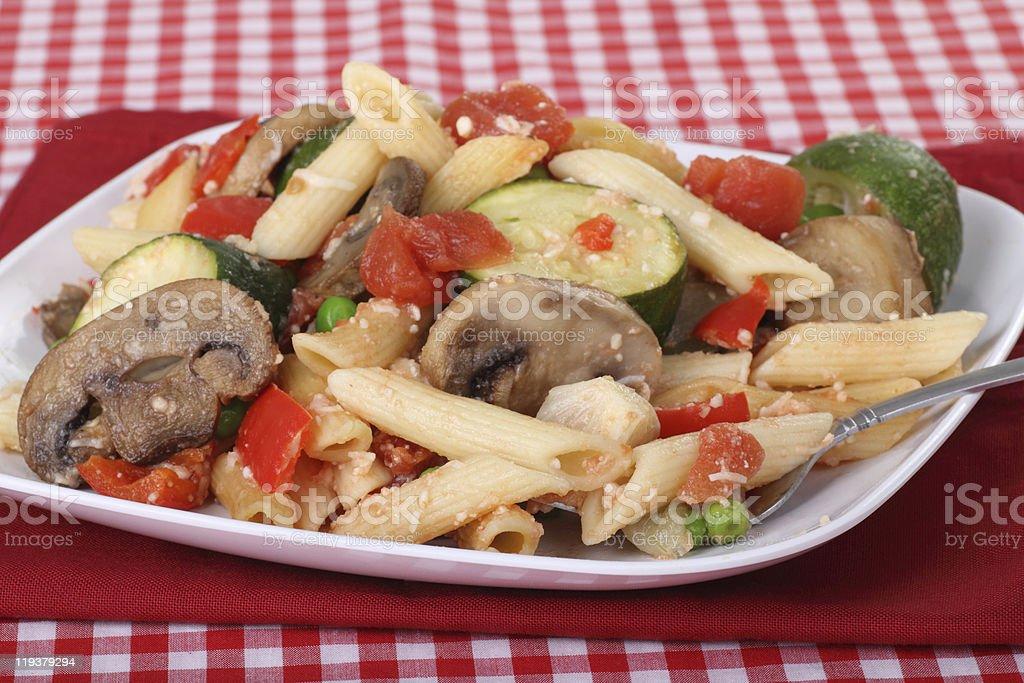 Penne Vegetable Bake stock photo