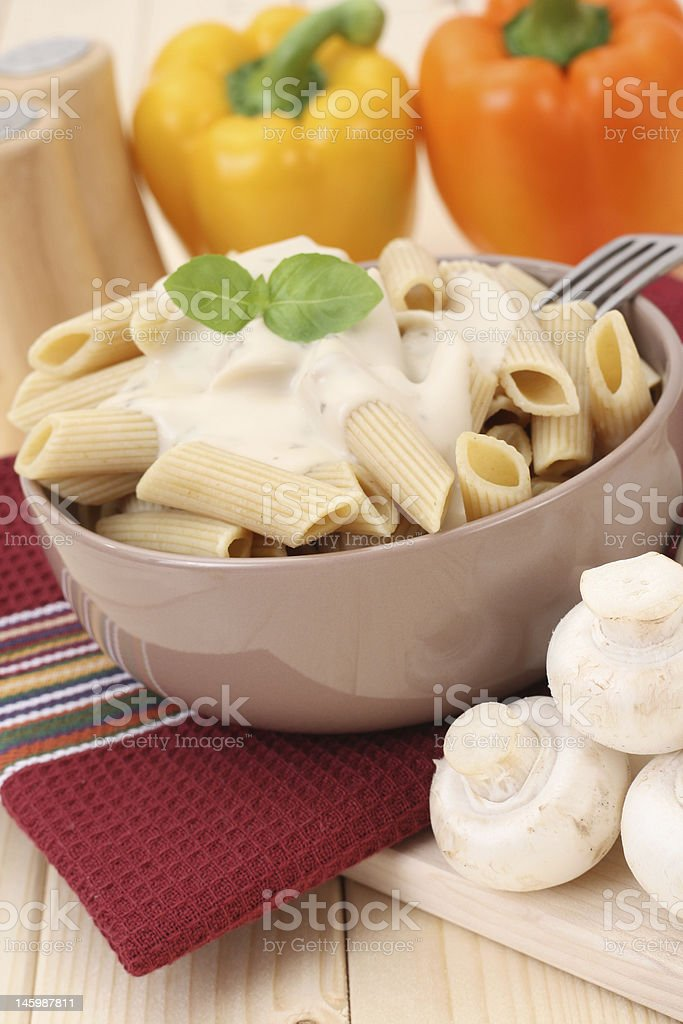 penne with sauce royalty-free stock photo