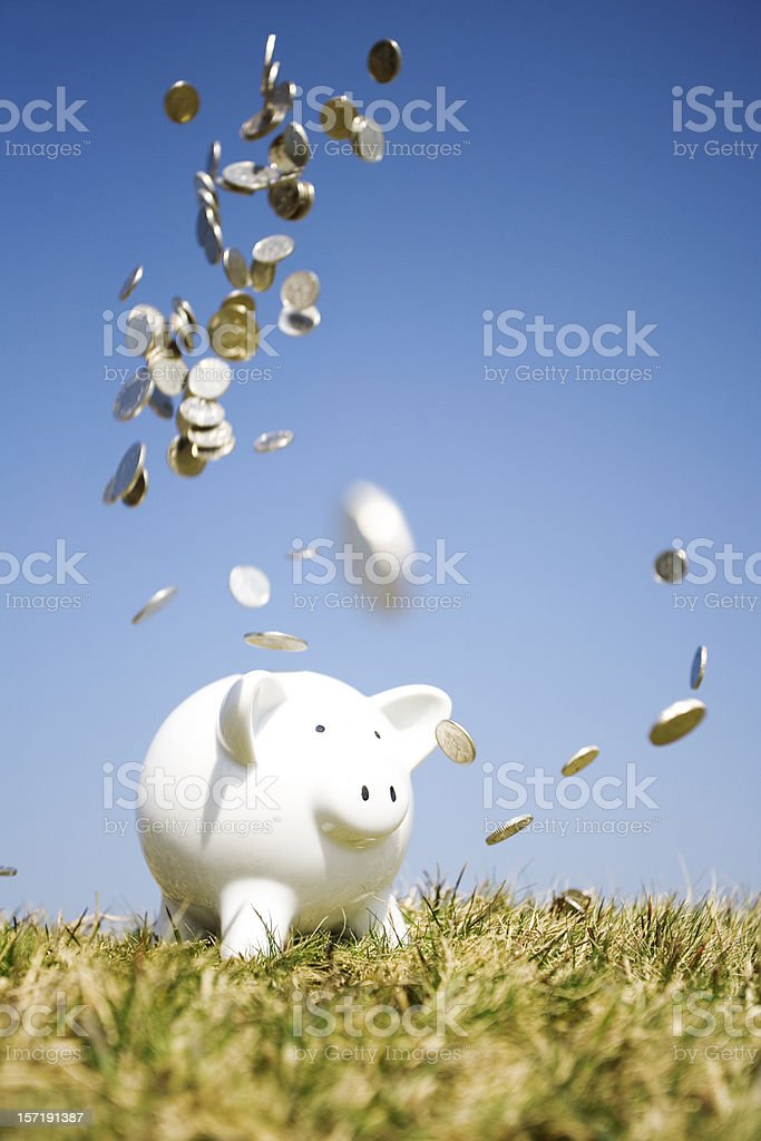Pennies from heaven royalty-free stock photo