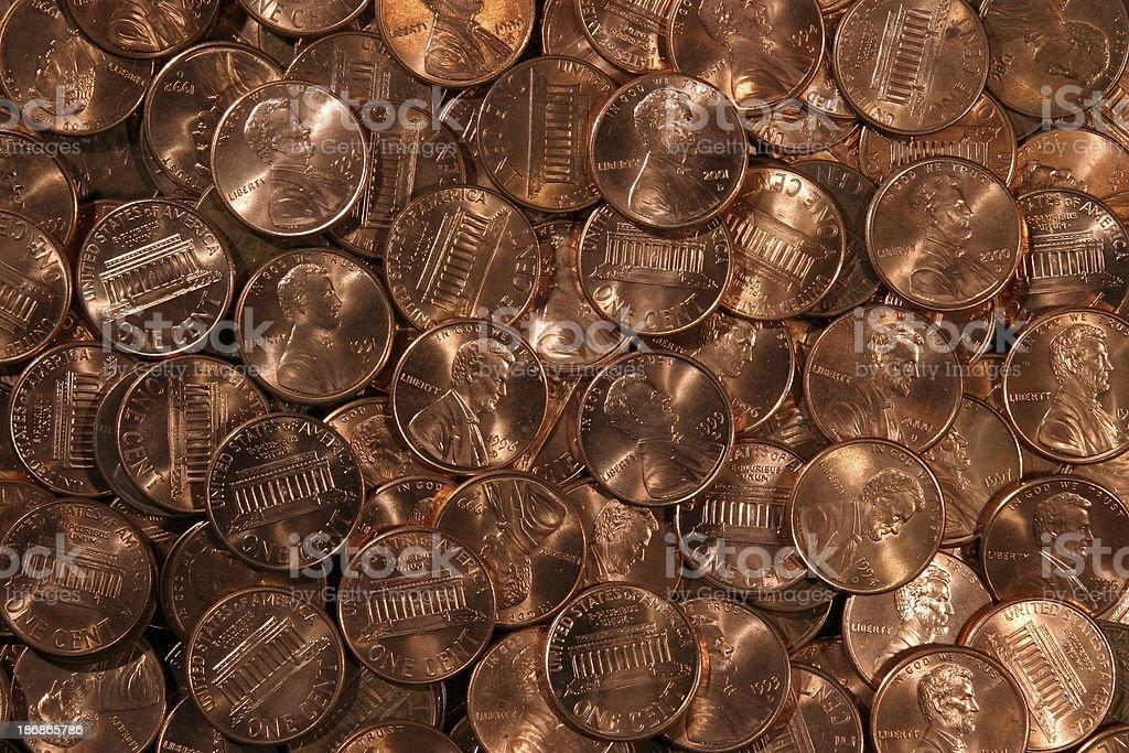 Pennies - Hi-Res stock photo