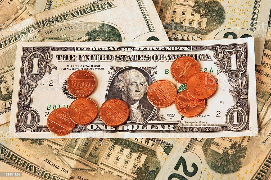 Pennies On The Dollar stock photo